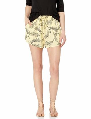 Obey Womens Jagged Short Shorts