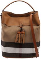 Burberry Medium Ashby Canvas Check Shoulder Bag
