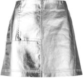 Paco Rabanne metallic denim skirt - women - Cotton - 36
