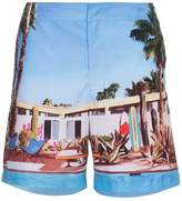 Orlebar Brown Bulldog Pool House print swim shorts