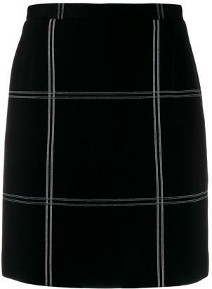 Dolce & Gabbana Pre Owned 1990's Oversized Check Short Skirt