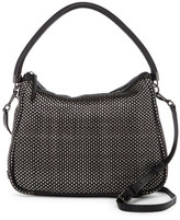Cole Haan Benson Woven Mini Leather Hobo Crossbody