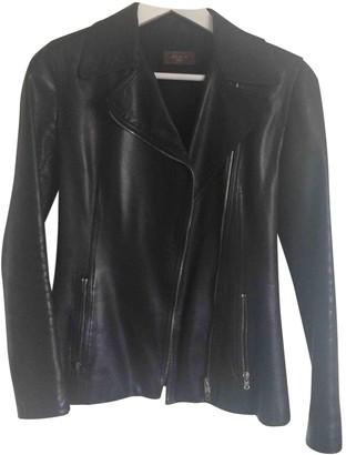 Alaia Black Leather Leather Jacket for Women Vintage