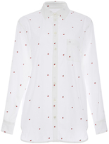 Equipment Kenton Apple Embroidered Cotton Shirt
