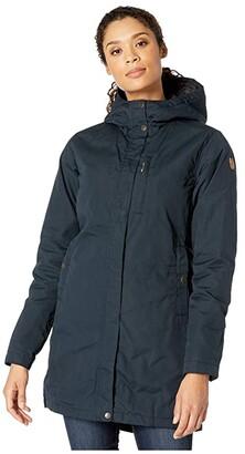 Fjallraven Kiruna Padded Parka (Dark Navy) Women's Coat