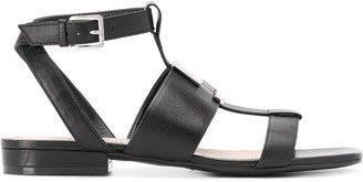 Sergio Rossi Logo Maniac flat sandals