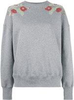 Alexander McQueen embellished sweatshirt - women - Cotton - 40
