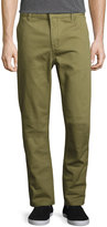 Wesc Eddy Flat-Front Chino Pants, Olive