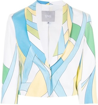 Versace Pre-Owned Colour-Block Cropped Jacket