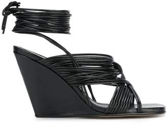 Rick Owens strappy wedge sandals