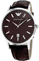 Giorgio Armani AR2413 Men's Classic Brown Leather Watch