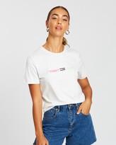 Tommy Jeans Neon Linear Logo Tee
