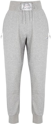 Adam Selman Sport Grey melange cotton-blend sweatpants