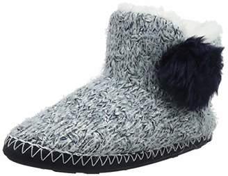 totes Women's Ladies Sequin Hairy Boot Slippers Hi-Top, Blue (Navy Nav), 38/39 EU