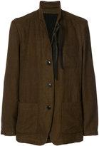 Ann Demeulemeester classic fitted blazer - men - Cotton/Linen/Flax/Rayon/Wool - XL