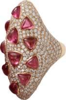INBAR Rubelite And Diamond Ring