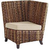 Pier 1 Imports Graciosa Mocha Brown Wicker Corner Chair
