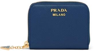 Prada charm Saffiano coin purse