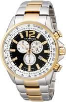 Akribos XXIV Men's AK619TTG Conqueror Swiss Chronograph Dial Two-Tone Stainless Steel Bracelet Watch