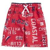 Nautica Boys' Bryson Graphic Swim Trunks