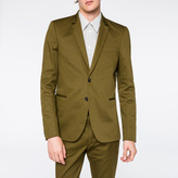 Paul Smith Men's Slim-Fit Khaki Stretch-Cotton Blazer
