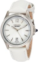 Mother of Pearl Golana Swiss Women's AU100-6 Aura Pro 100 Mother-of-Pearl Dial Leather Watch