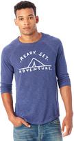 Alternative Washed Slub Baseball Graphic T-Shirt - Ready. Set. Adventure.