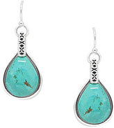 Barse Sterling Silver & Genuine Turquoise Teardrop Earrings