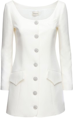 Giuseppe di Morabito Cady Jacket Mini Dress W/Crystal Buttons