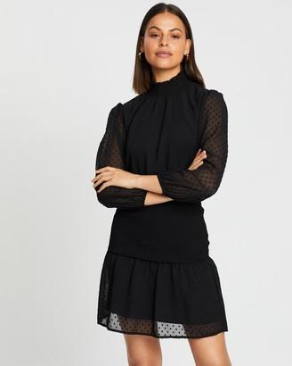 Atmos & Here Larissa Shirred Mini Dress