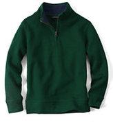 Classic Boys Half-zip Mock Pullover-White