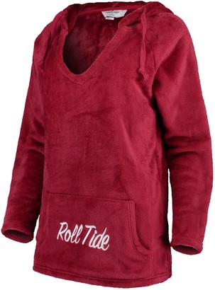 Women's Crimson Alabama Crimson Tide Missy Plush Super Soft V-Neck Pullover Hoodie