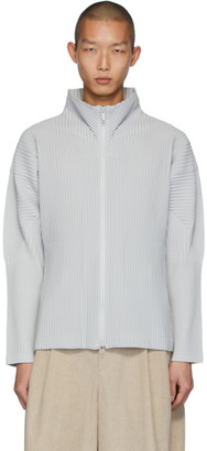 Homme Plissé Issey Miyake Grey Basics Zip-Up Jacket