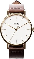 Vestal Unisex SPH3L03 The Sophisticate Stainless Steel Watch with Brown Band