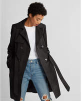 Express piped double breasted trench coat