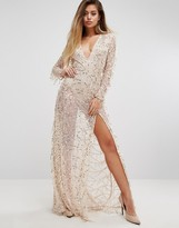 PrettyLittleThing Premium V Neck Sequin Maxi Dress