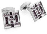 Tateossian Square Swarovski® Crystal Cuff Links, Purple