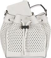 Rag & Bone White Perforated aston Bucket Bag