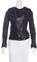 Anine Bing Crinkled Leather Jacket