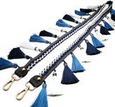 Ella & Elly Women's Accent Scarves Blue - Blue 47'' Tassel Handbag Strap