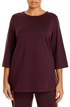 Eileen Fisher, Plus Size Boat Neck Top