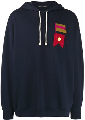 Acne Studios flag patch oversized hoodie