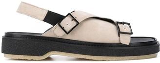 Adieu Paris Suede Slingback Sandals