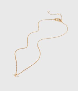 AllSaints Layla Gold Tone Semi-Precious Crystal Quartz Necklace