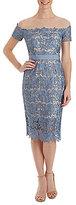 Jax Illusion Neckline Lace Sheath Dress