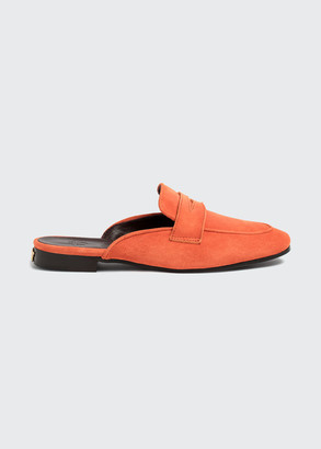 Bougeotte Suede Penny Loafer Mules
