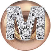 The Alkemistry Kismet by Milka 14ct rose-gold diamond M initial stud earrings