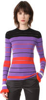 Opening Ceremony Striped Rib Sweater