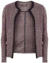 Dorothy Perkins Pink And Black Boucle Jacket