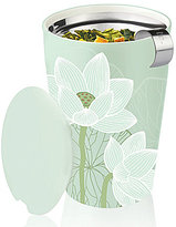 Tea Forte Kati Lotus Ceramic Tumbler with Stainless Steel Infusing Basket